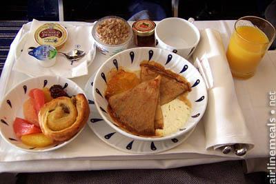 comidas en los aviones