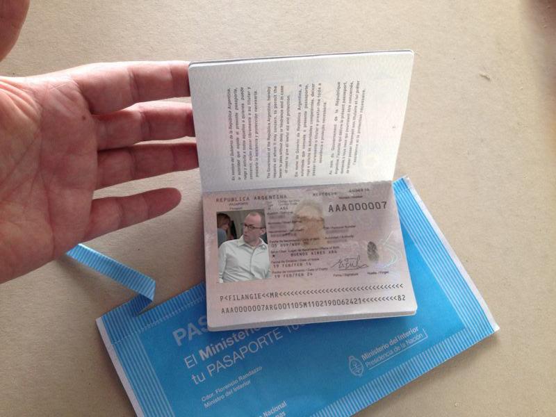 Pasaporte Mr. Filangie