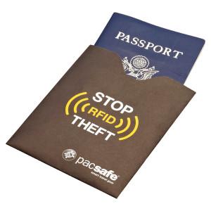 Sleeve protector de pasaporte con bloqueador de RFID