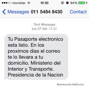 SMS del Ministerio del Interior
