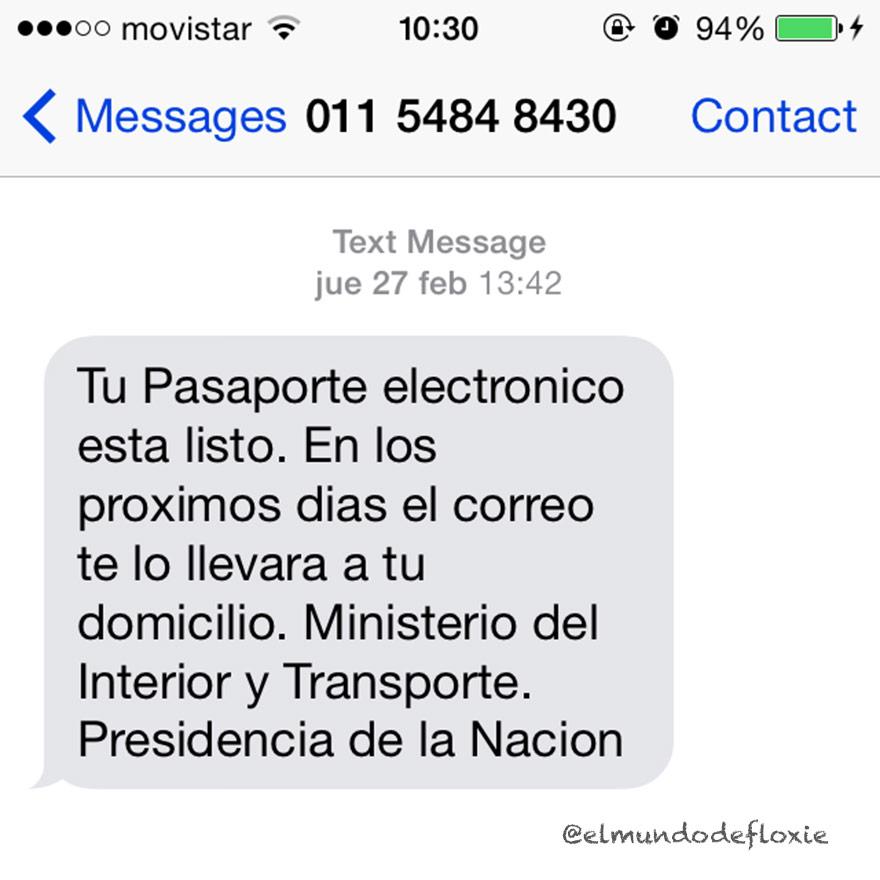 Sacando el nuevo pasaporte electr nico argentino the for Correo ministerio del interior