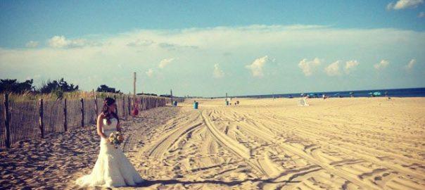 Novia en Rehoboth Beach, Delaware
