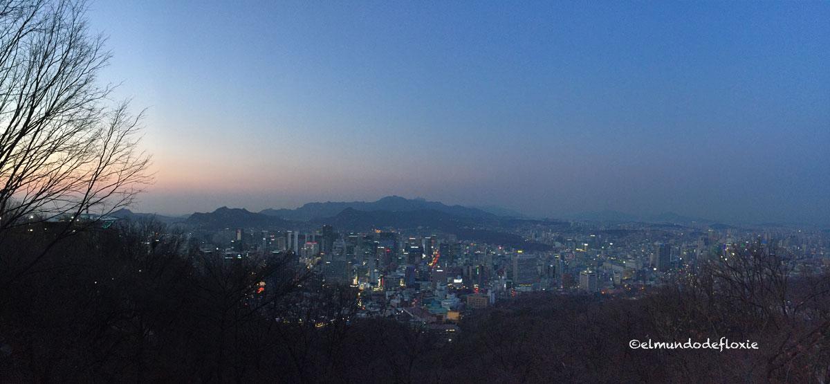 Vista desde la torre de Seul