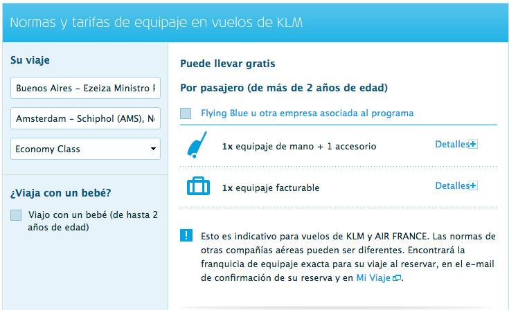 Equipaje permitido en vuelos nacionales aerolineas argentinas